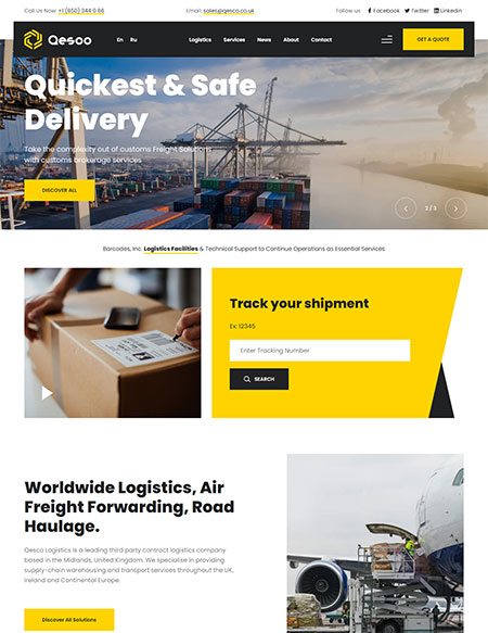 Qesco-Logistic-WordPress-Theme