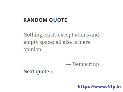 Quotes-Collection-Plugin