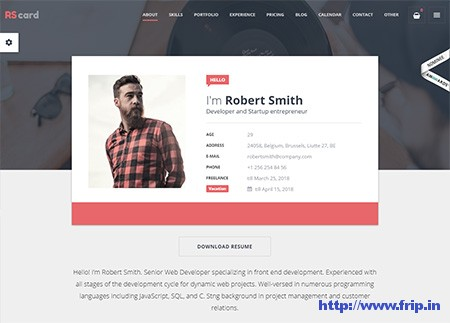 RScard-Resume-WordPress-Theme