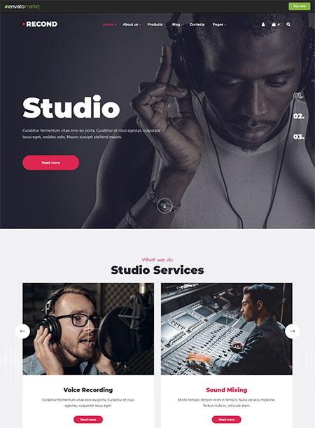 Recond-Recording-Studio-WordPress-Theme