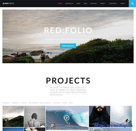 Redfolio-One-Page-WordPress-Theme