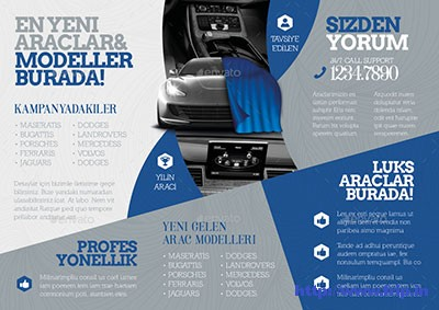 Rent-a-Car-Tri-Fold-Templates