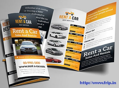 Rent-a-Car-Trifold-Brochures