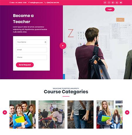 Reptro-Online-Courses-WordPress-Themes