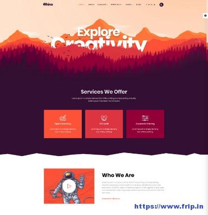Rhino-Portfolio-&-Agency-WordPress-Theme