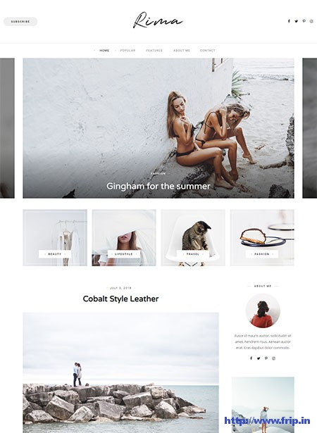 Rima-WordPress-Theme