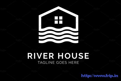 River-House-Real-Estate-Logo template