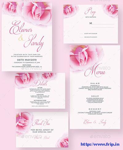 Rose-Flower-Wedding-Invitation-Suite