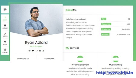 RyanCV-Resume-WordPress-Theme
