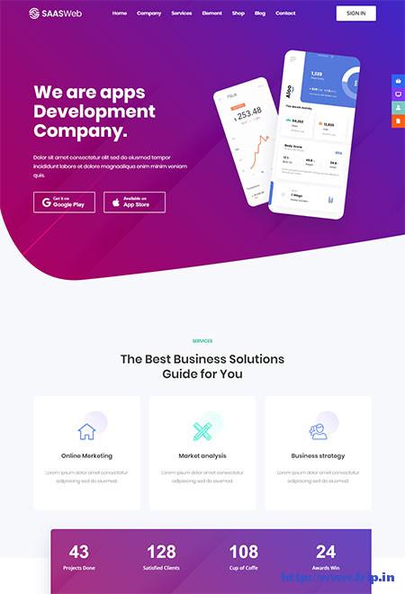 Saasweb-WordPress-Theme-For-Apps