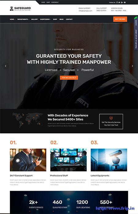 Safeguard-Security-Agency-WordPress-Theme