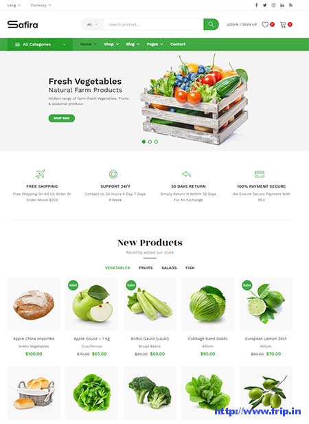 Safira-Organic-Food-WordPress-Theme