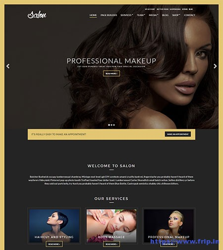 Salon-WordPress-Theme