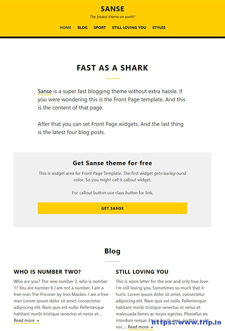 Sanse-WordPress-Theme
