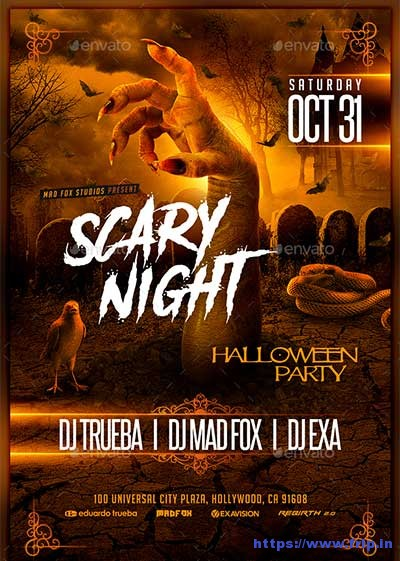 Scary-Night-Halloween-Party-Flyer