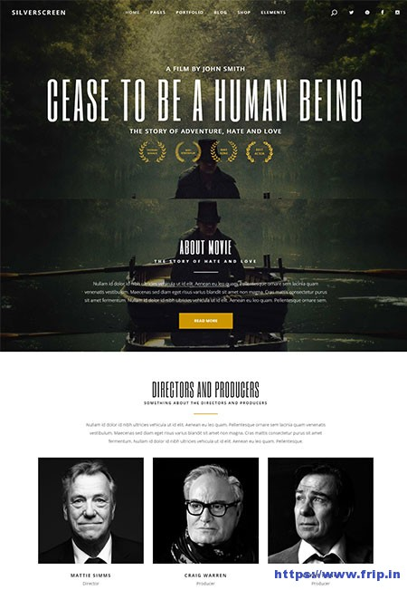 Silverscreen-Movies-WordPress-Theme