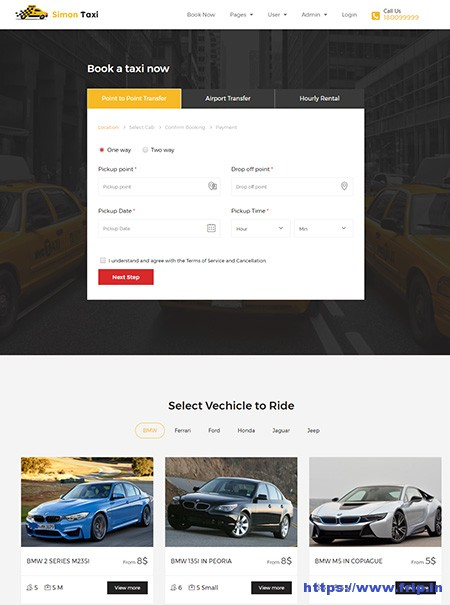 SimonTaxi-Taxi-Booking-WordPress-Theme