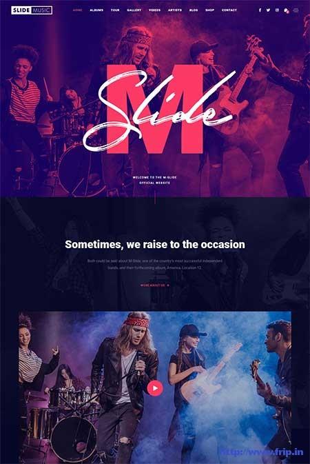 Slide-Music-WordPress-Theme