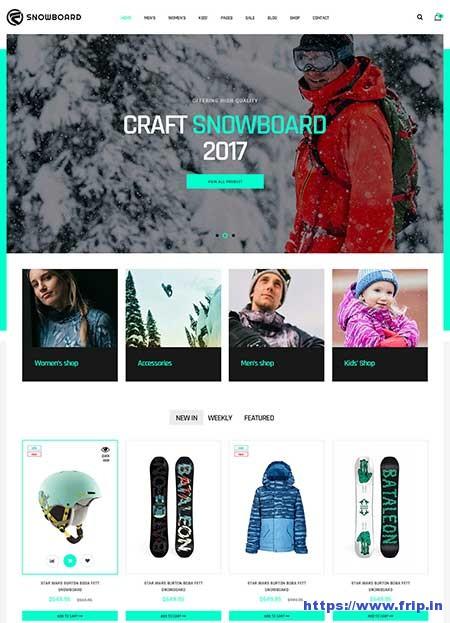 Snowboard-Ski-Equipment-WooCommerce-Theme