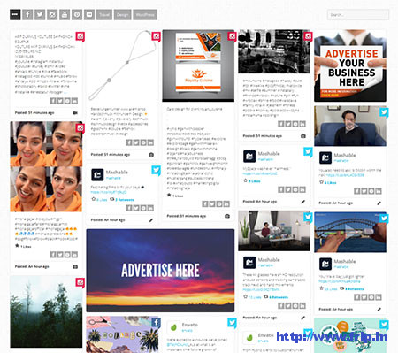 Social-Stream-Grid-With-Carousel