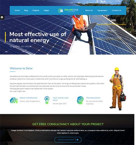 solar energy wordpress themes