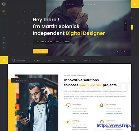 Solonick-Personal-Portfolio-WordPress-Theme