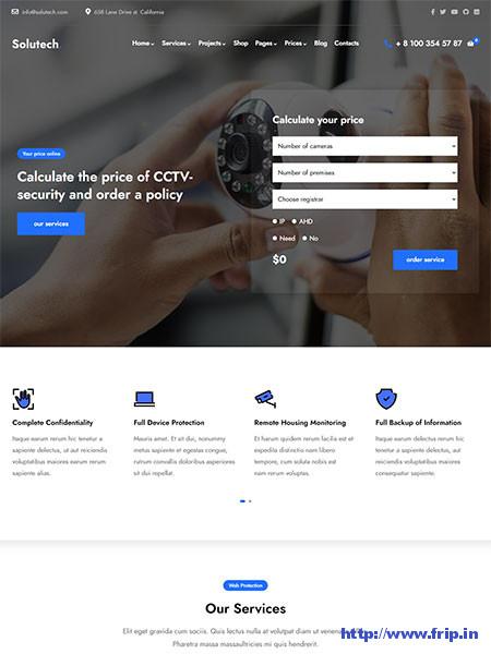 Solutech-Security-CCTV-WordPress-Theme
