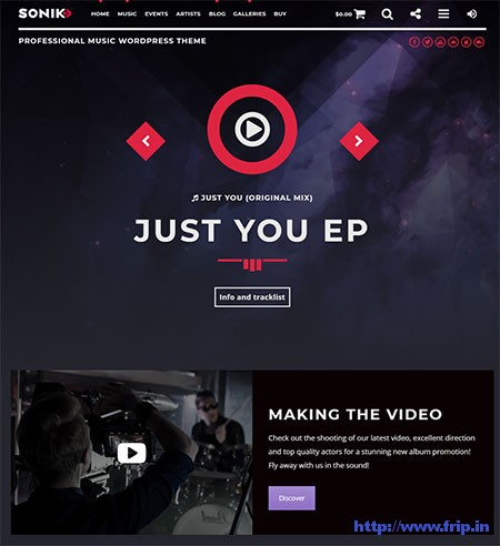 Sonik-Music-WordPress-Theme