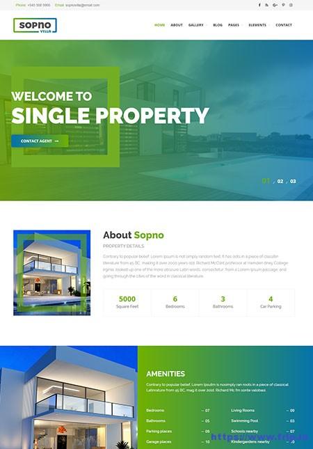 Sopnovilla-Single-Property-WordPress-Theme