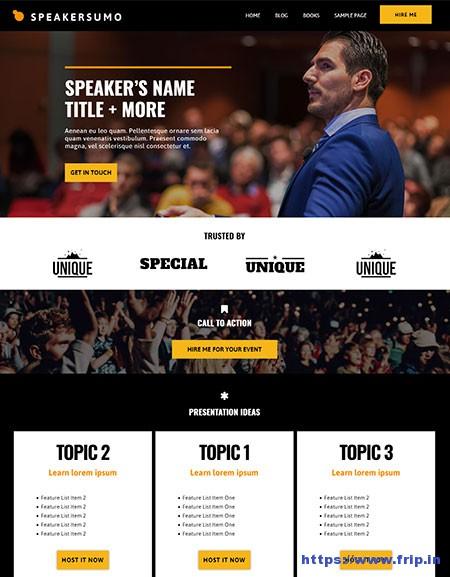 SpeakerSumo-Events-WordPress-Theme