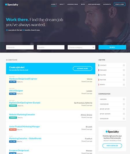 Specialty-job-board-wordpress-theme