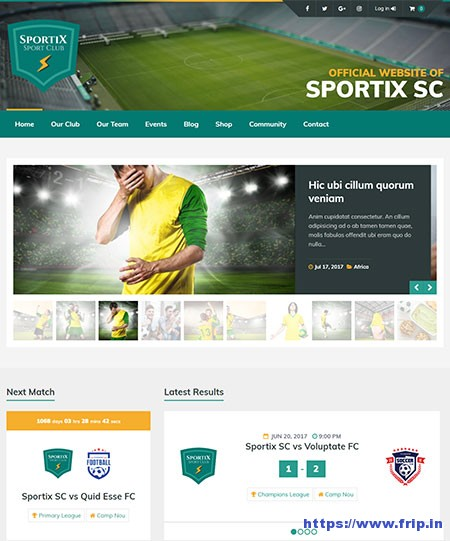 Sportix-WordPress-SportPress-Theme