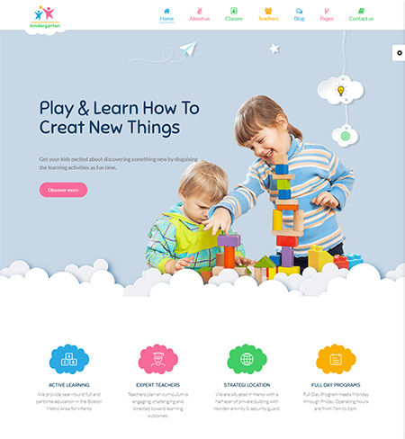 Starkid--Kindergarten-WordPress-Theme