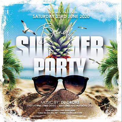 Summer-Beach-Party-Flyers