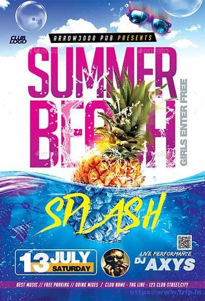 Summer-Beach-Splash-Flyer