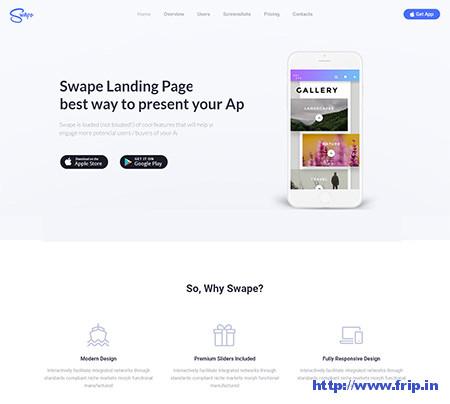 Swape-App-Showcase-&-App-Store-Theme