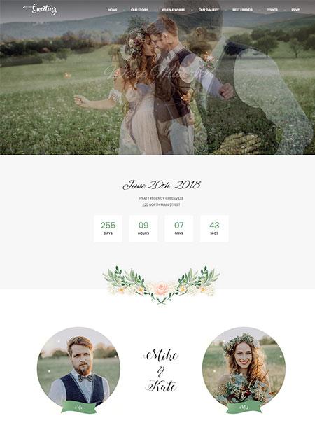 Sweetinz-Onepage-Wedding-WordPress-Theme