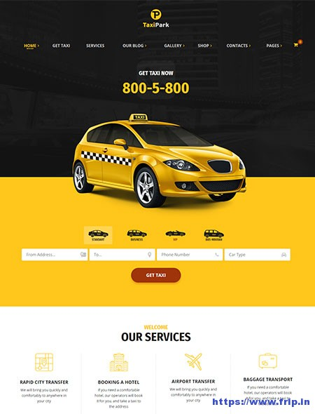 TaxiPark-Taxi-Service-WordPress-Theme
