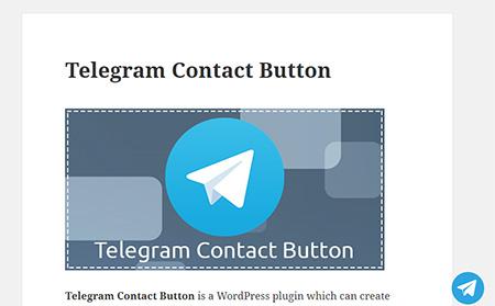 Telegram-Contact-Button-Plugin