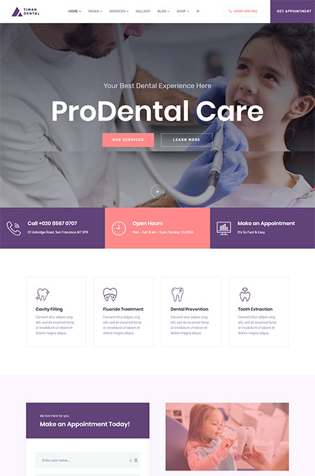 Timan-Dental-Clinic-WordPress-Theme