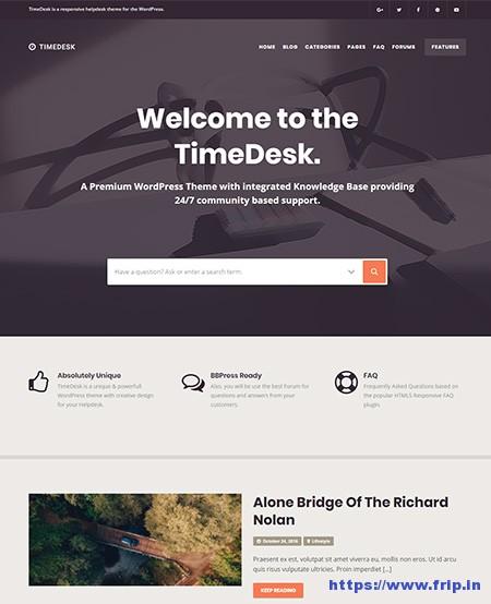 Timedesk-Knowledge-Base-WordPress-Theme