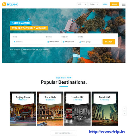 Travelo-Booking-WordPress-Theme