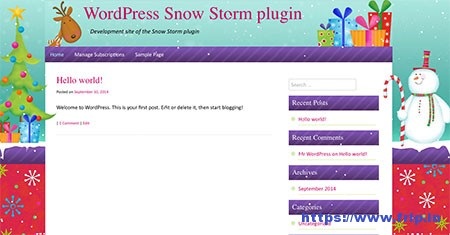 Tribulant-Snow-Storm-Plugin