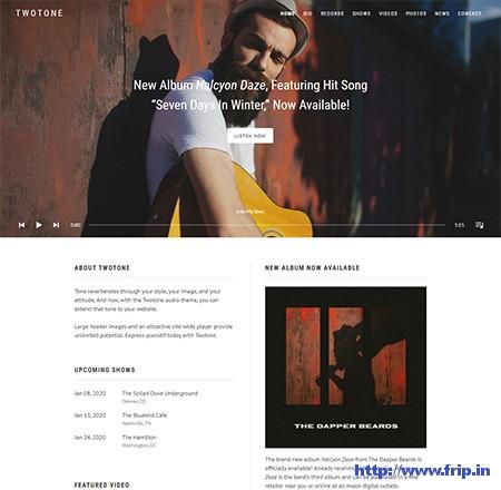 Twotone-Audio-WordPress-Theme