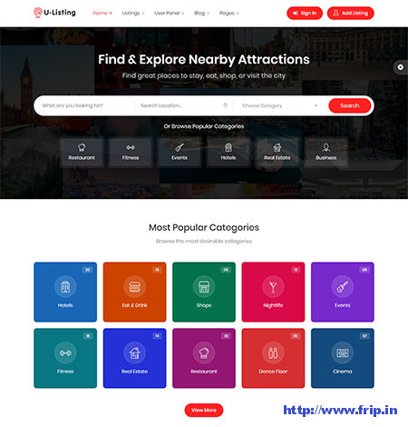 U-Listing-Directory-HTML-Template