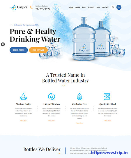 Uaques-Water-Delivery-WordPress-Theme