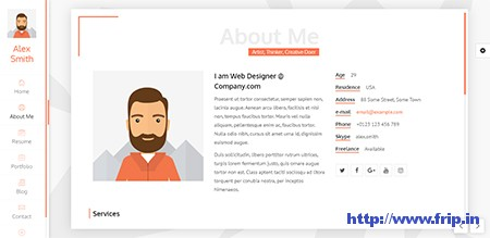 Unique-Resume-WordPress-Theme