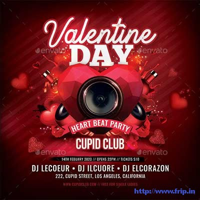 Valentine-Day-Heart-Beat-Party-Flyer