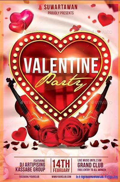 Valentine-Party flyer