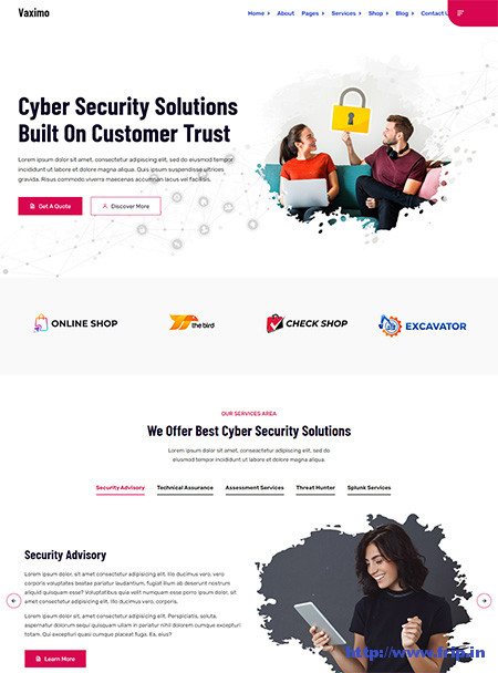 Vaximo-Cyber-Security-WordPress-Theme